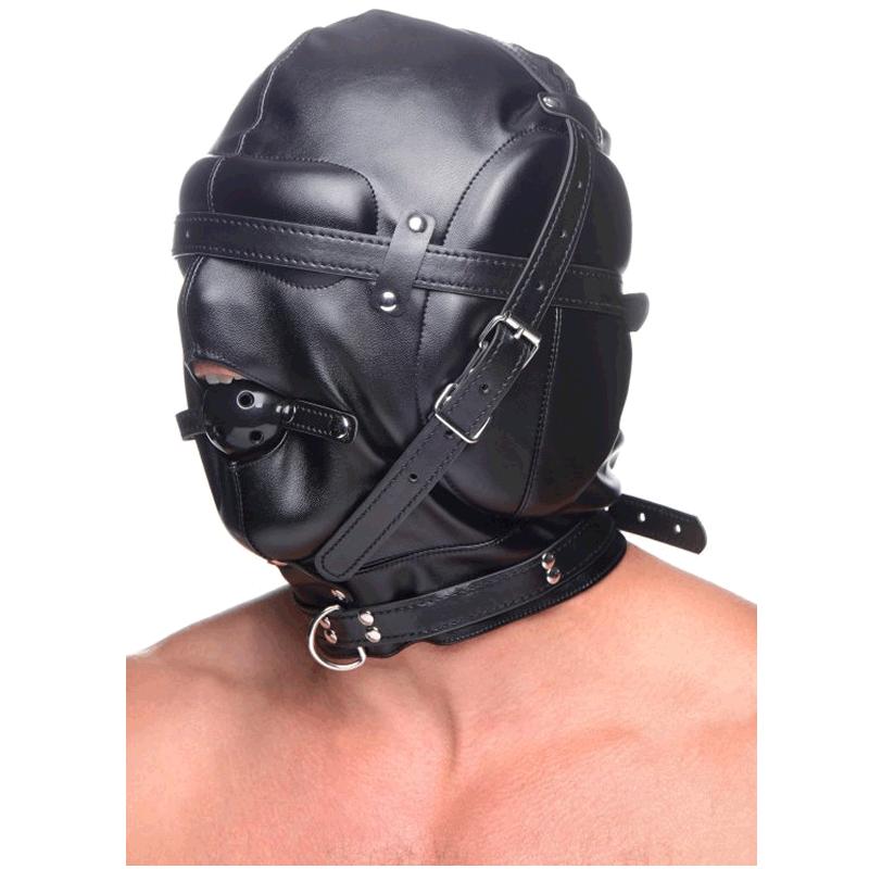 Bondage Hood with Breathable Ball Gag